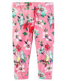 Carter's Floral Capri Leggings - Pink