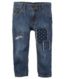 Carter's 5-Pocket Patch Straight Jeans - Blue