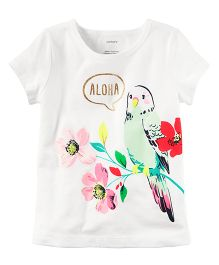 Carter's Aloha Parrot Graphic Tee - White