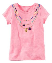 Carter's Neon Tassel Necklace Tee - Pink