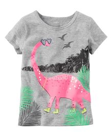 Carter's Dinosaur Glitter Graphic Tee - Grey