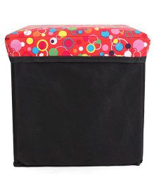 Ratnas Stool Cum Utility Box - Red Black