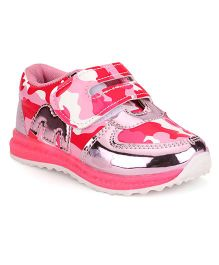 Little Maira Pretty Printed Shoes - Pink
