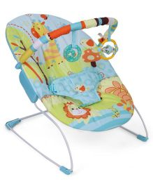 Mastela Soothing Vibrations Baby Bouncer Giraffe Print - Green And Aqua
