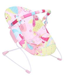 Mastela Music And Soothe Bouncer Animal Print - Pink