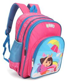 Dora Printed School Bag Pink - 14 inch