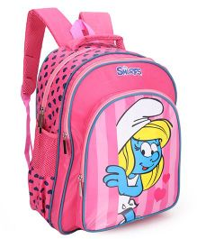 Smurfs Printed School Bag Pink - 16 inch