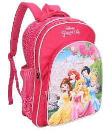 Disney Princess School Bag Always Dreaming Print Pink - 18 inch