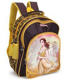 Disney Princess Printed School Bag Brown & Yellow - 16 inch