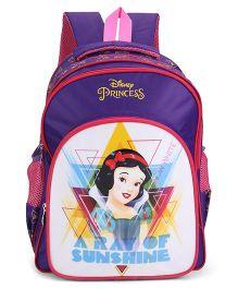 Disney Princess Snow White Print School Bag Purple - 16 inch