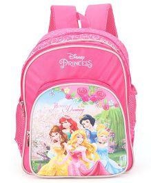 Disney Princess Printed School Bag Pink 14 inch