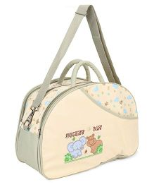 Diaper Mother Bag Animal Embroidery - Cream