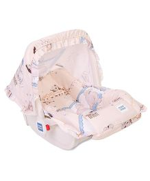 Mee Mee 5 In 1 Baby Cozy Carry Cot Cum Rocker - Cream