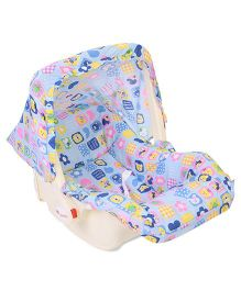 Infanto Babylove Carry Cot Cum Rocker Deluxe Multi Print - Blue