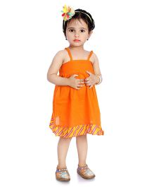Little Pockets Store High Low Dress With Bloomer - Orange