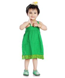 Little Pockets Store High Low Dress With Bloomer - Green