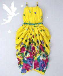 Soul Fairy Floral Border Print Jumper - Yellow