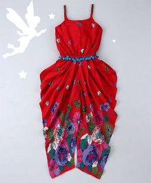 Soul Fairy Floral Border Print Jumper - Red