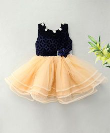 M'Princess Flower Design Party Dress - Blue
