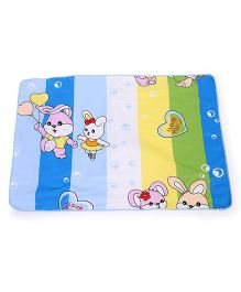 Baby Mat With Rabbit  Print - Multi Color