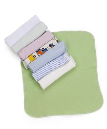 Babyhug Knit Wash Cloth Pack Of 8 - Multicolor