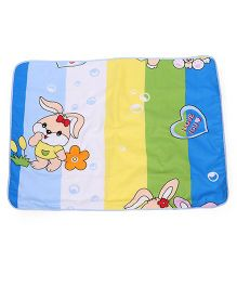 Baby Mat With Rabbit And Flower  Print - Multi Color