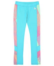 Tyge Contrast Printed Sports Track Pant - Sea Green