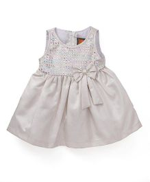 Little Kangaroos Sleeveless Dress With Embellishments - Cream