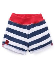 Little Kangaroos Stripes Shorts - Navy Red White