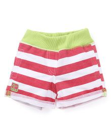 Little Kangaroos Stripes Shorts - Pink Green White