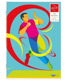 Youva A4 Size Single Line Long Book Soft Bound Sea Green - 140 Pages