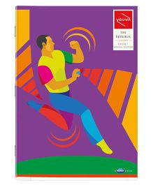 Youva A4 Size Single Line Long Book Soft Bound Purple - 172 Pages