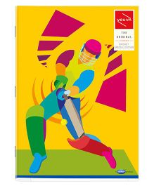 Youva A4 Size Single Line Long Book Soft Bound Dark Yellow - 172 Pages
