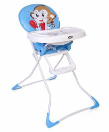 Baby High Chair Monkey Print - Blue