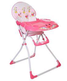 Baby Musical High Chair Bear Print - Light Pink