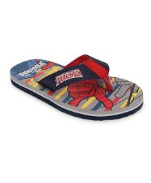 Spider Man Flip Flops - Grey & Blue