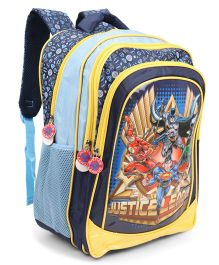 Justice League School Bag Blue Yellow - 18 inch
