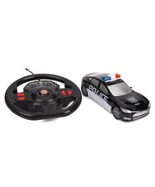 Gravity Sensor Steering Wheel Remote Control Police Car - Black