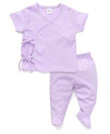 Toffyhouse Half Sleeves Night Suit - Mauve