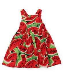 Toffyhouse Singlet Frock Watermelon Print - Red Green