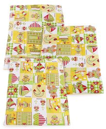 Mee Mee Diaper Changing Mat Multicolor With Print - Set Of 3