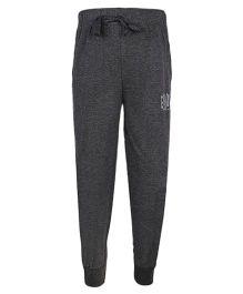 Haig-Dot Solid Color Track Pant With Drawstring - Dark Grey