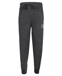 Haig-Dot Solid Color Track Pant With Drawstring - Dark Grey
