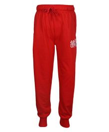 Haig-Dot Solid Color Track Pant With Drawstring - Red