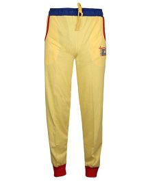 Haig-Dot Solid Color Track Pant With Ribbed Hem - Yellow