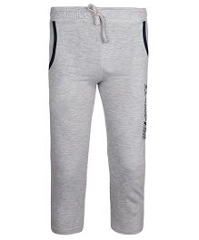 Haig-Dot Solid Color Lounge Pants - Light Grey