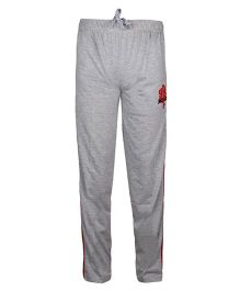 Haig-Dot Solid Color Lounge Pants With Side Stripes - Light Grey