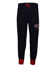 Haig-Dot Solid Color Track Pant With Drawstring - Black