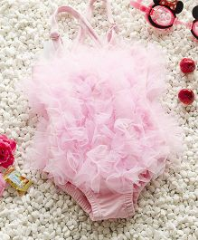 Pre Order - Mauve Collection Frill Lace Swimcostume - Pink