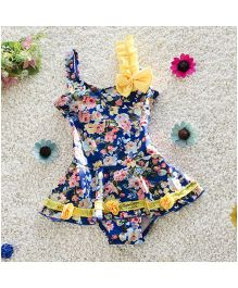 Pre Order - Mauve Collection Printed Swimming Constumes - Blue